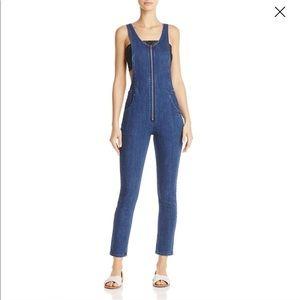 Free People   Jax Stretch Skinny Leg Overall Jeans